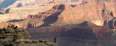 Grand Canyon,Mand,Udsigt,Morgen