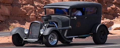 Hot rod,Route 66,Lake Powell