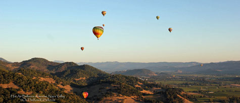 Hot Air Balloons, Napa Valley, sunrise