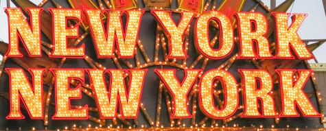 New York-New York,Skilt,Neonlys