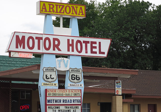 Motor Hotel,Route 66,Williams,Arizona