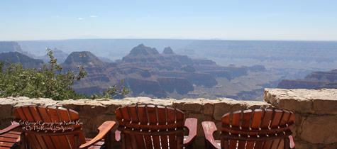 North Rim, Grand Canyon Nationalpark, Adirondack Chair