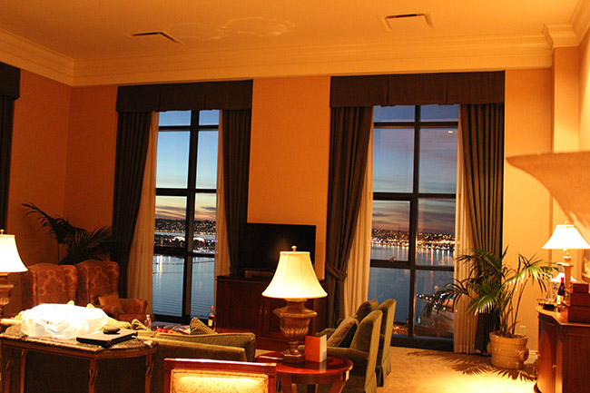 Penthouse suite,Hyatt,Seaport Village,Midway,San Diego