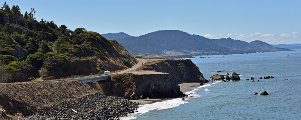 Seashore,Road,Autocamper,Oregon