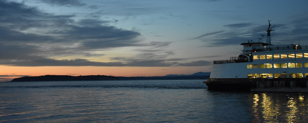 Ferry,Sunset,Mukilteo,Washington