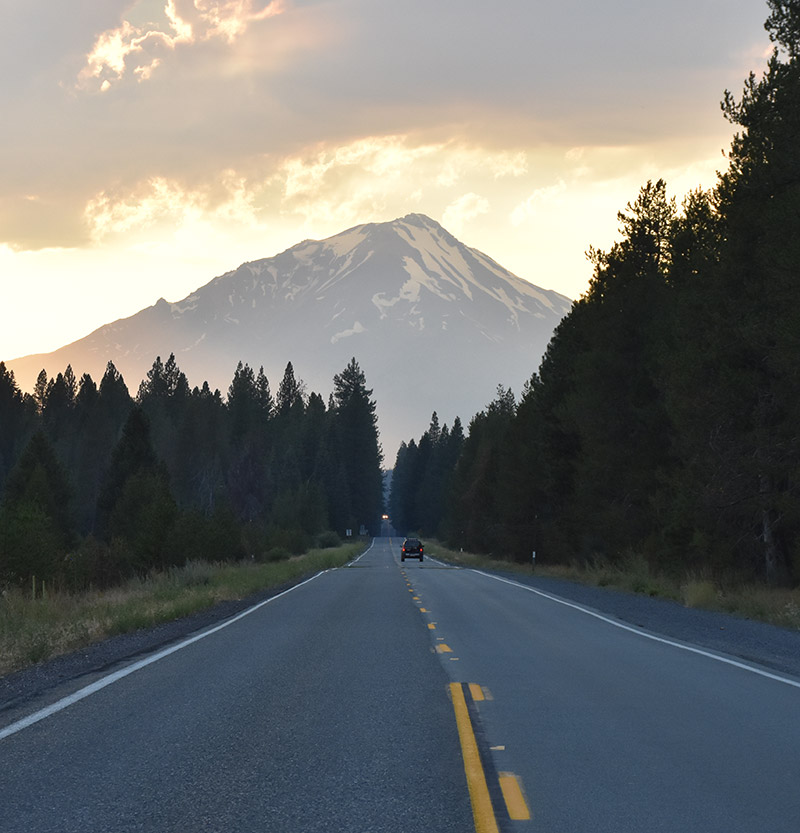 Mount Shasta,twilight,Oregon