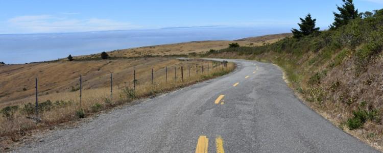 Road,view,Petrolia,California