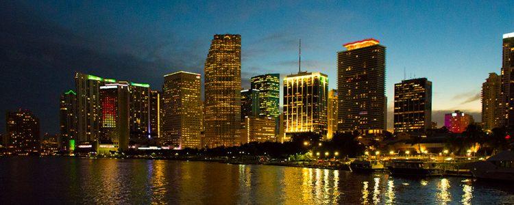 Miami,Skyline,Solnedgang