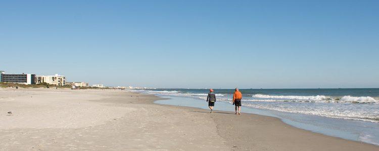 Sandstrand,Cocoa Beach,Par,Gåtur