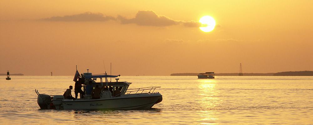 Solnedgang,Over vandet,Key West,Båd