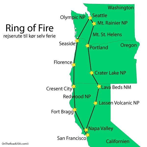 The Ring Of Fire Turguide Til Det Nordvestlige Usa Californien