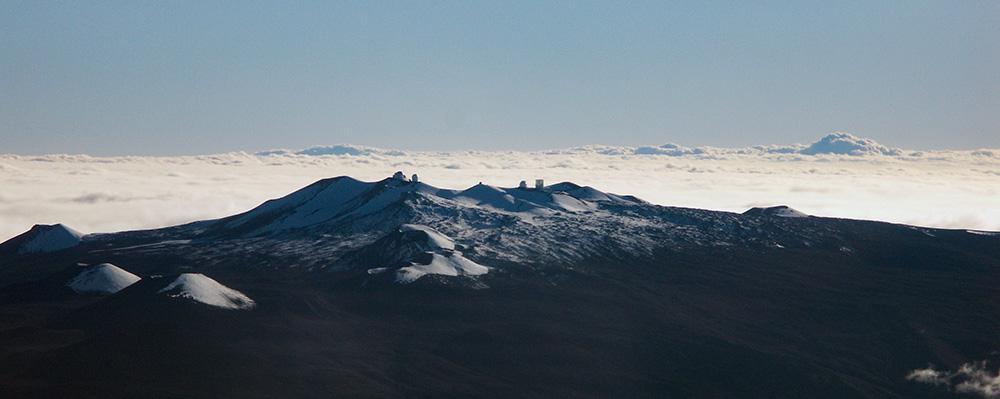 Mauna Kea Observatoriet,Hawaii,Set fra fly