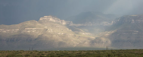 Tordenvejr,Bjerge,Alamogordo,New Mexico