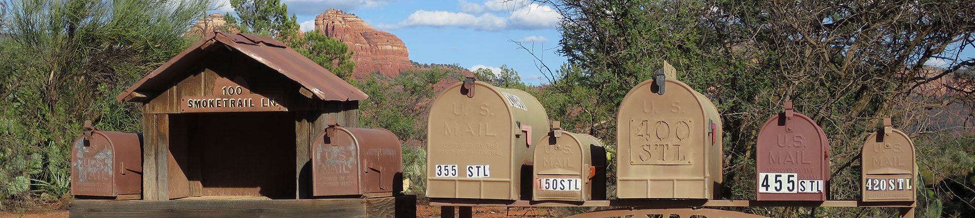 Postkasser,Cathedral Rock,Sedona
