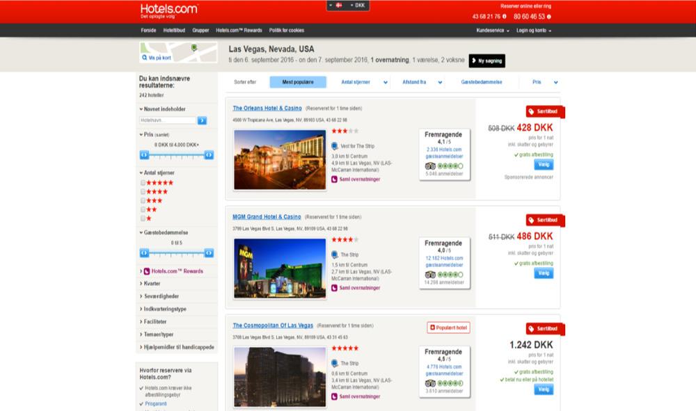 Skærmprint,Hotels,Las Vegas,Ledige hoteller