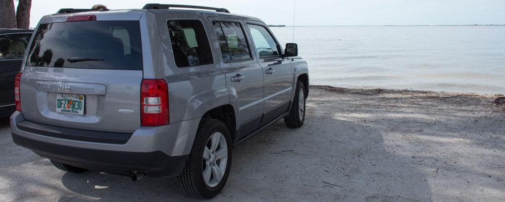 Jeep Patriot,Strand,Vand,Sanibel Island
