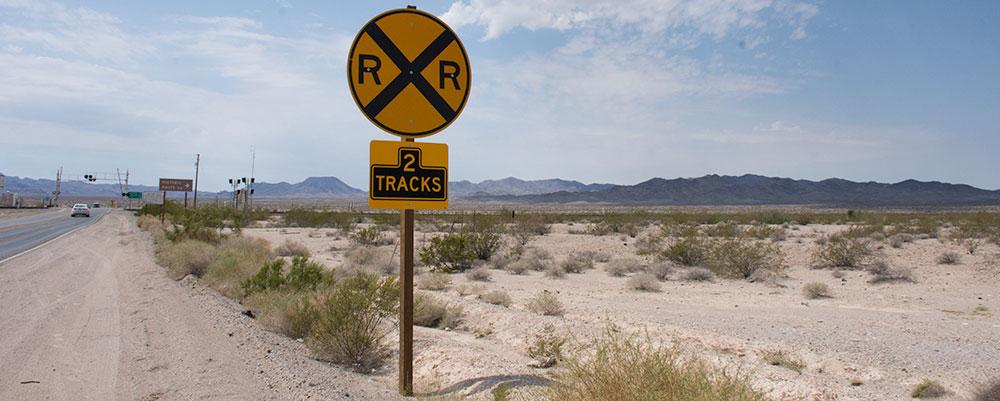 Jernbaneoverskæring,Ørken,RXR,Route 66