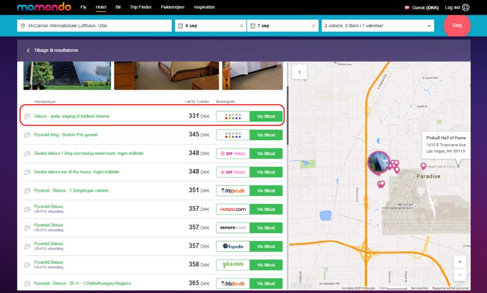 Skærmprint,Momondo,Billigt tilbud,Luxor Las Vegas