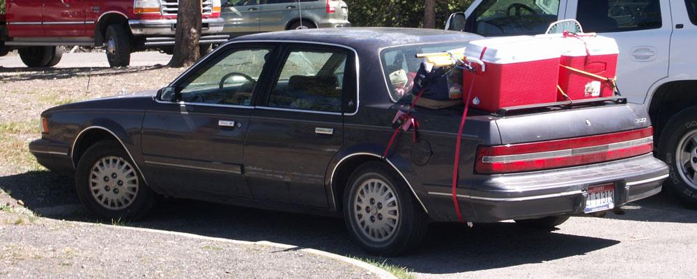 Bil,Overlæset,Bagage,Køletasker