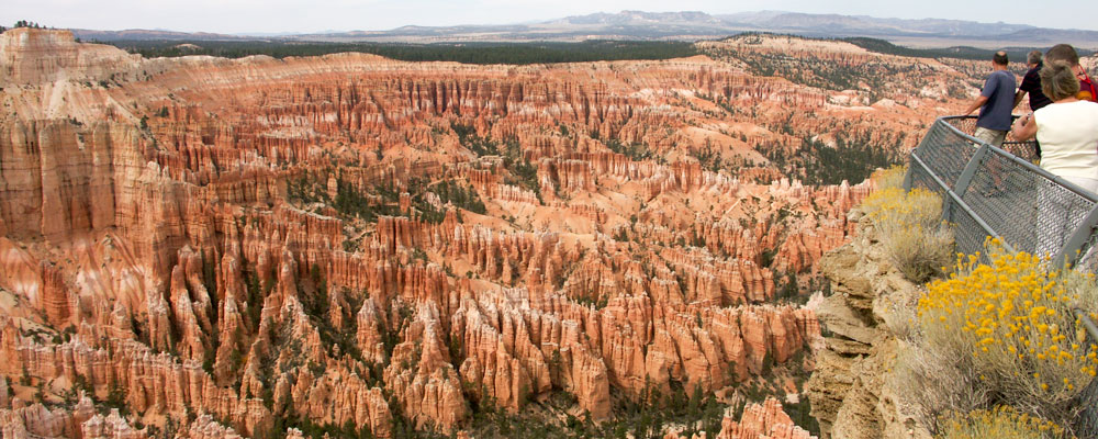Hoodoos,Udsigt,Mennesker,Bryce Canyon