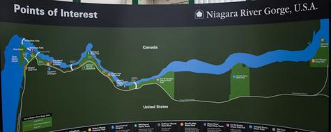 Kort,Niagara Falls,Niagara River Gorge,USA,Canada