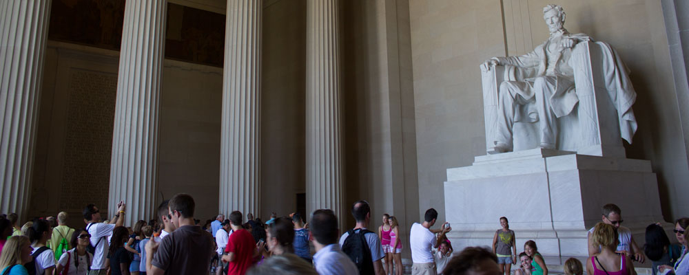 Lincoln,Memorial,Mennesker,Washington