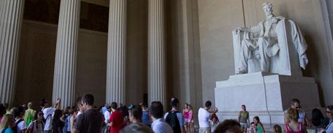 Lincoln,Memorial,Mennesker,Washington