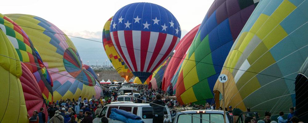 Luftballoner,Albuquerque,Morgen opstigning