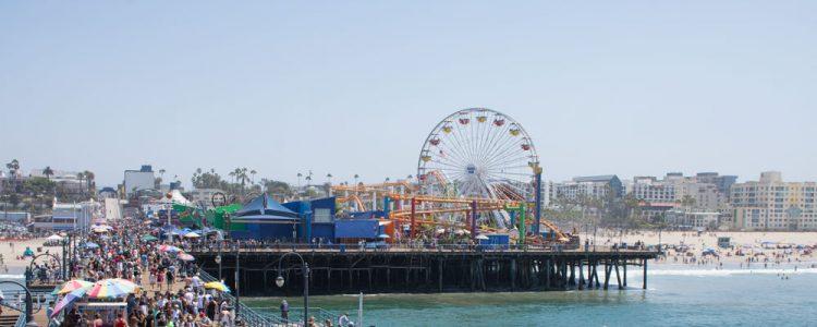 Santa Monica Pier,Solskin,Mennesker,Pacific Park