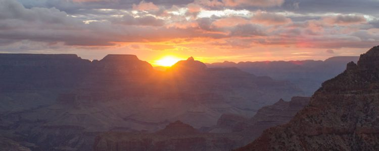 Solopgang,Grand Canyon,Skyer