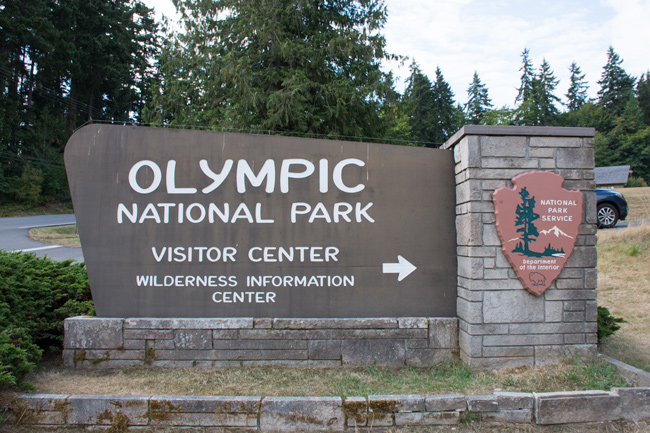 Skilt,Olympic National Park,Sign