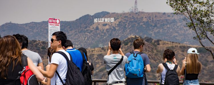 Hollywood,Skilt,Mennesker,Fotografere.Griffith Park