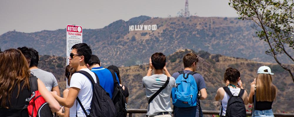 Hollywood,Skilt,Mennesker,Fotografere.Griffith Park