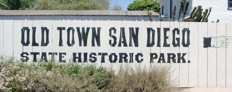Skilt,Old Town San Diego,Plankeværk