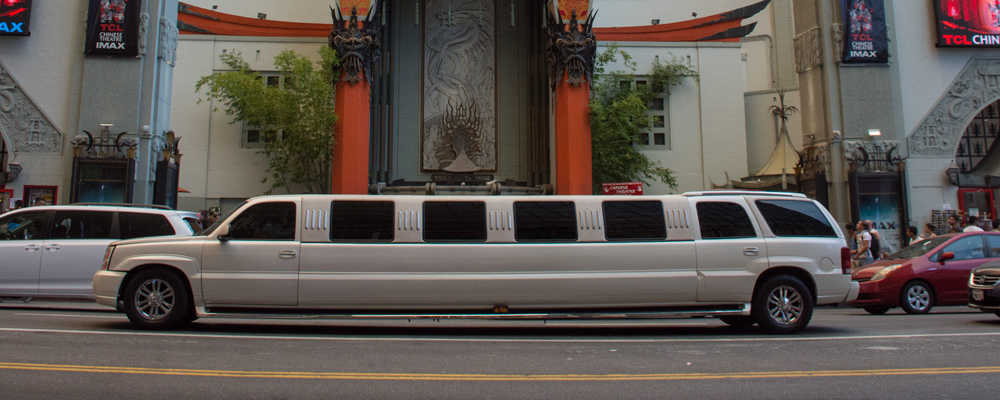 Hvid limo,Gade,Chinese Theater,Indgang