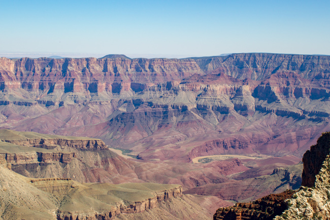 Colorado River,Grand Canyon North Rim,Flod,Bjerge,Solskin
