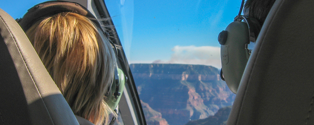 Helikopter,Indefra,Person,Grand Canyon,Hovedtelefon